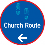 church-route-sign