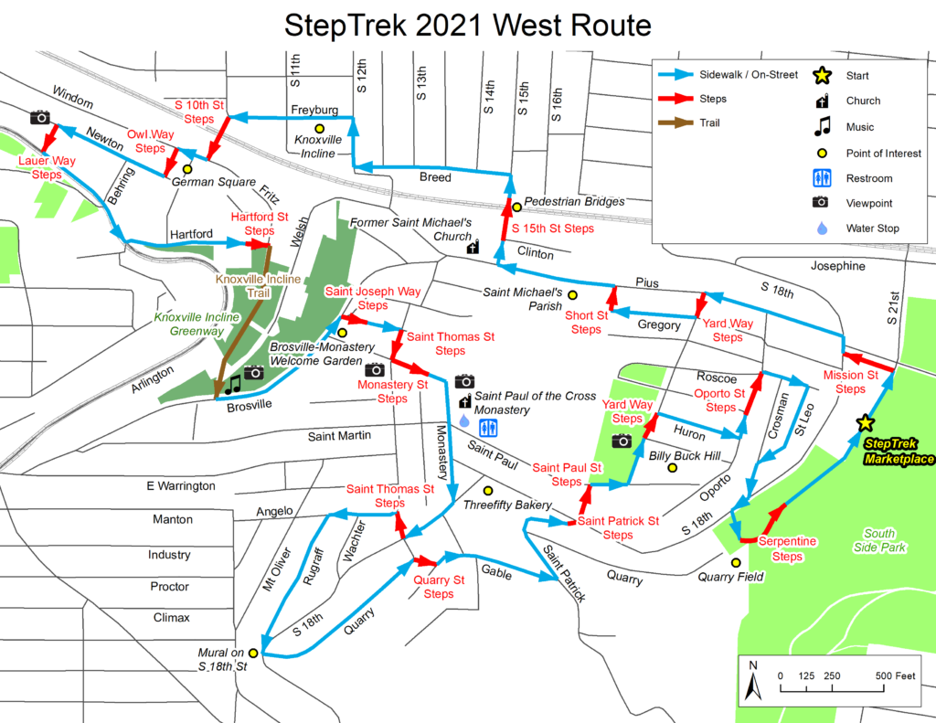 west route map